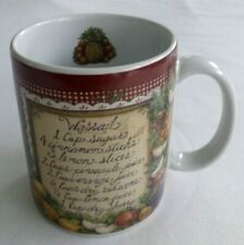 """1998, Lang and Wise Collector Mug, """"Holiday Wassail"""" Christmas, Mulled Wine"""