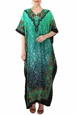 Boho Hippie Women Plus Size Tunic Cotton Long Gown Bath Robe Kaftan Casual Dress