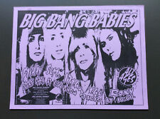 BIG BANG BABIES Vintage Flyer Ad For The Roxy Show 1990's Los Angeles Glam Rock