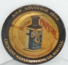 1909 ALASKA YUKON PACIFIC EXPO tip tray Mapleine MAPLE SYRUP Crescent Co SEATTLE