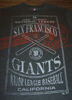 VINTAGE STYLE SAN FRANCISCO GIANTS MLB BASEBALL T-Shirt GRAY MENS SMALL NEW