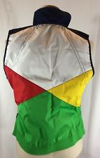 RALPH LAUREN Navy/ Yellow Color-Block REVERSIBLE Nautical Vest sz PM