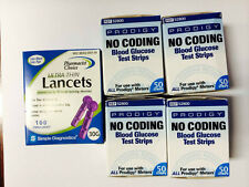 PRODIGY No Coding Blood Glucose 200 Test Strips Plus100 Lancets Exp 10/30/2018