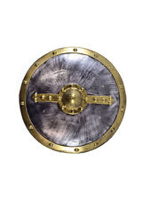 Spartan Gladiator Round Shield Fancy Dress Roman Greek Warrior Medieval Mens Ac
