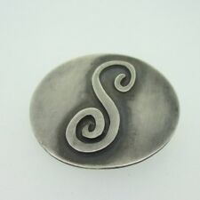 Sterling Silver W.J.Brice Initial S Pin Brooch