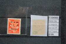 STAMPS ITALY LOCAL POST CLN BARGE SASSONE N°A15 SIGNED MNH** (F104901)