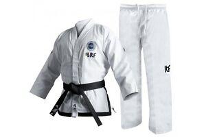 Adidas ITF Instructor Dobok Adult Taekwondo Uniform Mens White Kimono TKD Gi
