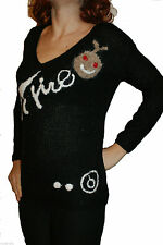 Mehrfarbige Damen-Pullover aus Acryl