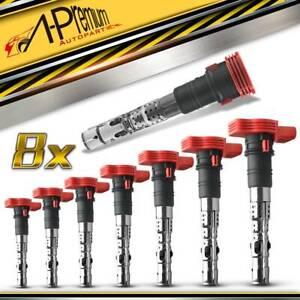 8x Ignition Coils for Audi A4 S4 A6 Allroad A8 B6 B7 D3 4.2L 3.7L 2002-2010 BBK