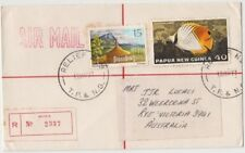 Stamps Papua New Guinea 1977 cover sent registered BUKA RELIEF No 9 postmark