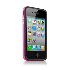 Funda Parachoques HQ para iPhone 4S/4 Bi de color negro/Rosa+ film av/ar