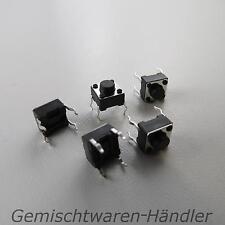 10x Mikrotaster Mikroschalter AUS-(EIN) 6 x 6 x 5 mm 0,05A-12V Drucktaster mini
