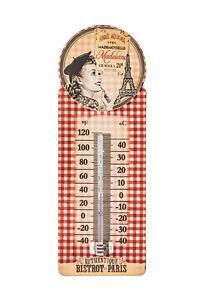 Thermometer Bistrot de Paris Metall Retro Vintage Natives