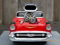 Maisto Muscle Machines 1957 Supercharged Chevrolet Bel Air Toy Car 1:24 Gasser