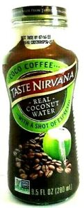 Taste Nirvana Real Coconut Water with A Shot of Espresso 9.5 oz ( Pack of 6 )