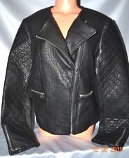 Victorias Secret Disigners Dawn Levy Leather Moto Jacket Coat STUNNING NWT XL