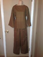 CHRISTIAN DIOR LADIES LINEN SET BLOUSE AND PANTS SIZE 8 AND 10