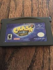 Crash Bandicoot 2: N-Tranced (Nintendo Game Boy Advance, 2003) GBA Cart L@@K