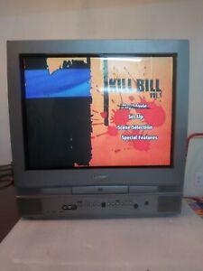 "Symphonic 20"" CRT TV Built in DVD Player Combo WF20D4 RETRO GAMING"