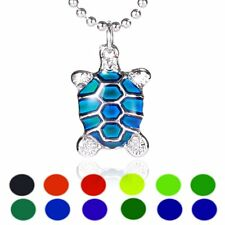 Turtle Sensitive Liquid Stone Thermo Mood Changing Color Pendant Necklace Gift