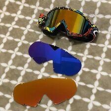 Motocross Goggles, Off-road Down Hill Dirt Bike Mtb Atv Goggles, Ravo Gold Plate