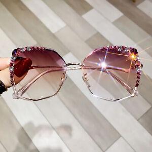 NEW Luxury Rhinestone Rimless Sunglasses Women Fashion Personalised Shades UV400