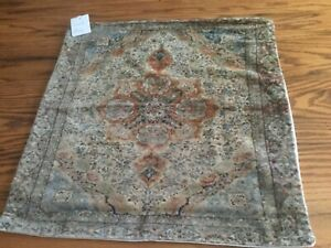 """Pottery Barn Rikissa Print Pillow Cover Antique Neutral Multi New Modern 22"""" NEW"""