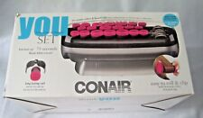 Conair You Set Hot Rollers 20 Multi Size Ceramic Rollers & Heated Clips New