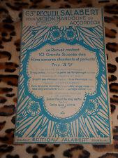 Partition - 63e recueil Francis Salabert pour violon, mandoline ou accordéon
