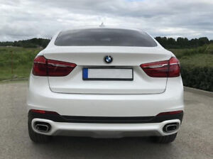 BMW X6 F16 Rear Bumper SE diffuser addon difuser spoiler skirt Bottom Trim Cover