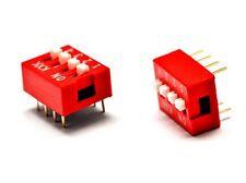 2 INTERRUTTORE DIP SWITCH 4 contatti posizioni commutatore DIl pin 2.54mm on off