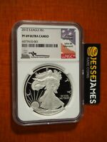 2012 S PROOF SILVER EAGLE NGC PF69 ULTRA CAMEO JOHN MERCANTI HAND SIGNED LABEL!