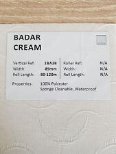 "89mm (3.5"") VERTICAL BLIND FABRIC. FULL ROLL. 100M. BADAR CREAM"