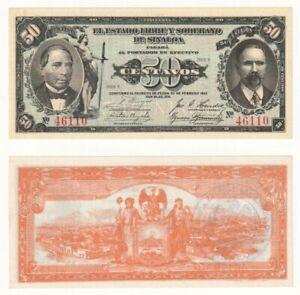 Mexico 50 Centavos Banknote (1915) P.S1042 - UNC.