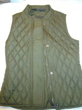 Belstaff Olive Green Westwell Quilted Gilet Vest NWT US size XS $295