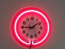 Vintage Very Rare  Howard Miller Pink Neon Wall Clock