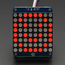 "Adafruit 1.2"" 8x8 LED-Matrix mit I2C-Backpack, rot, z.B. für Arduino, Raspi,1049"
