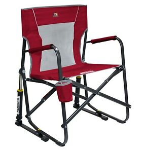 GCI Outdoor Freestyle Rocker Mesh Chair Red - FREE SHIP