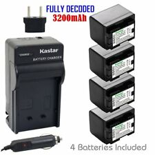 BP-727 Battery & Regular Charger for Canon VIXIA HF M50 M52 M500 R30 R32 R40 R42