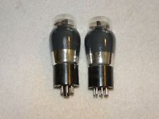 2 x 6F6g Philco Tubes *Hot Stamped Base*Very Strong Pair*