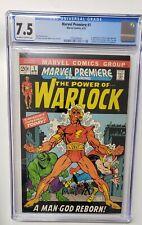 Marvel Premiere #1 Warlock 1st Appearance 1st Soul Gem 1972 CGC Graded 7.5