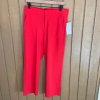 Athleta Women's Red Tribeca Utility Crop Pants Size 6 - NEW WITH TAGS