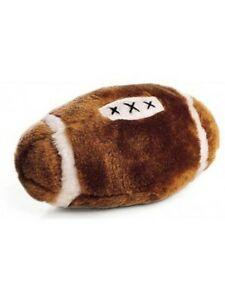 Ethical Pet Spot Plush Football 4.5 inch Sport Style Dog Toy with Squeaker