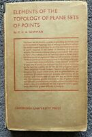1939 1st TOPOLOGY OF PLANE SETS OF POINTS by M H A Newman free EXPRESS w/wide