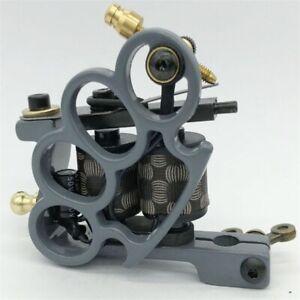 Handmade Tattoo Machine 10 Warp Coils Cast-iron Tattoo Guns Machine Liner Shader