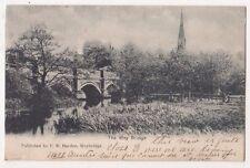 The Wey Bridge 1905 F.W. Hayden Surrey Postcard, B676
