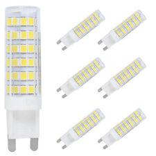6X G9 LED Stecksockel Lampe 7W 600 Lumen, Warmweiß 3000K, Ersatz 50W Halogen