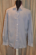 *Ralph Lauren* (Purple Label) Classic Blue & White striped men's shirt (size 15)