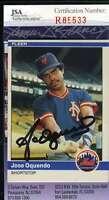 Jose Oquendo 1984 Fleer Rookie Jsa Coa Hand Signed Authentic Autographed Mets