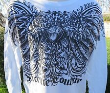 AFFLICTION XTREME COUTURE Henley White NEW 2XL Long Sleeve